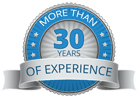 30 years experience logo