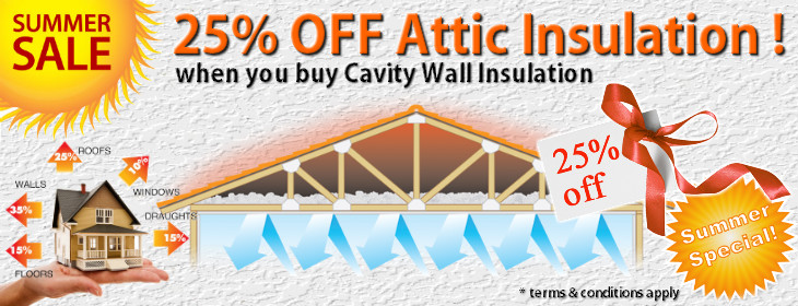 Summer Sale - 25% OFF Attic Insulation